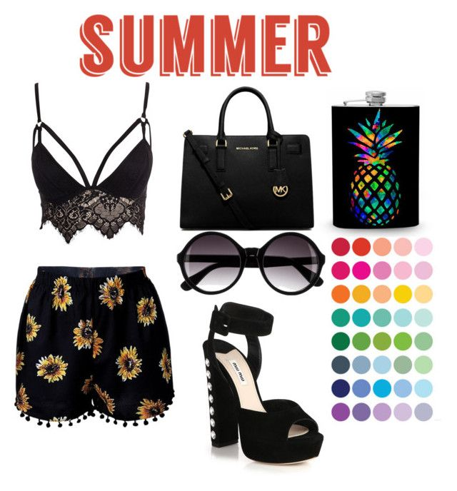 """summer raimbow"" by benialiada on Polyvore featuring Club L, Miu Miu, MICHAEL Michael Kors and H&M"