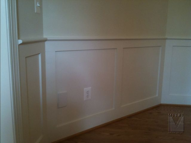 Wall Wainscot Wainscoting Chair Rail Flat Wall Panel Wainscot