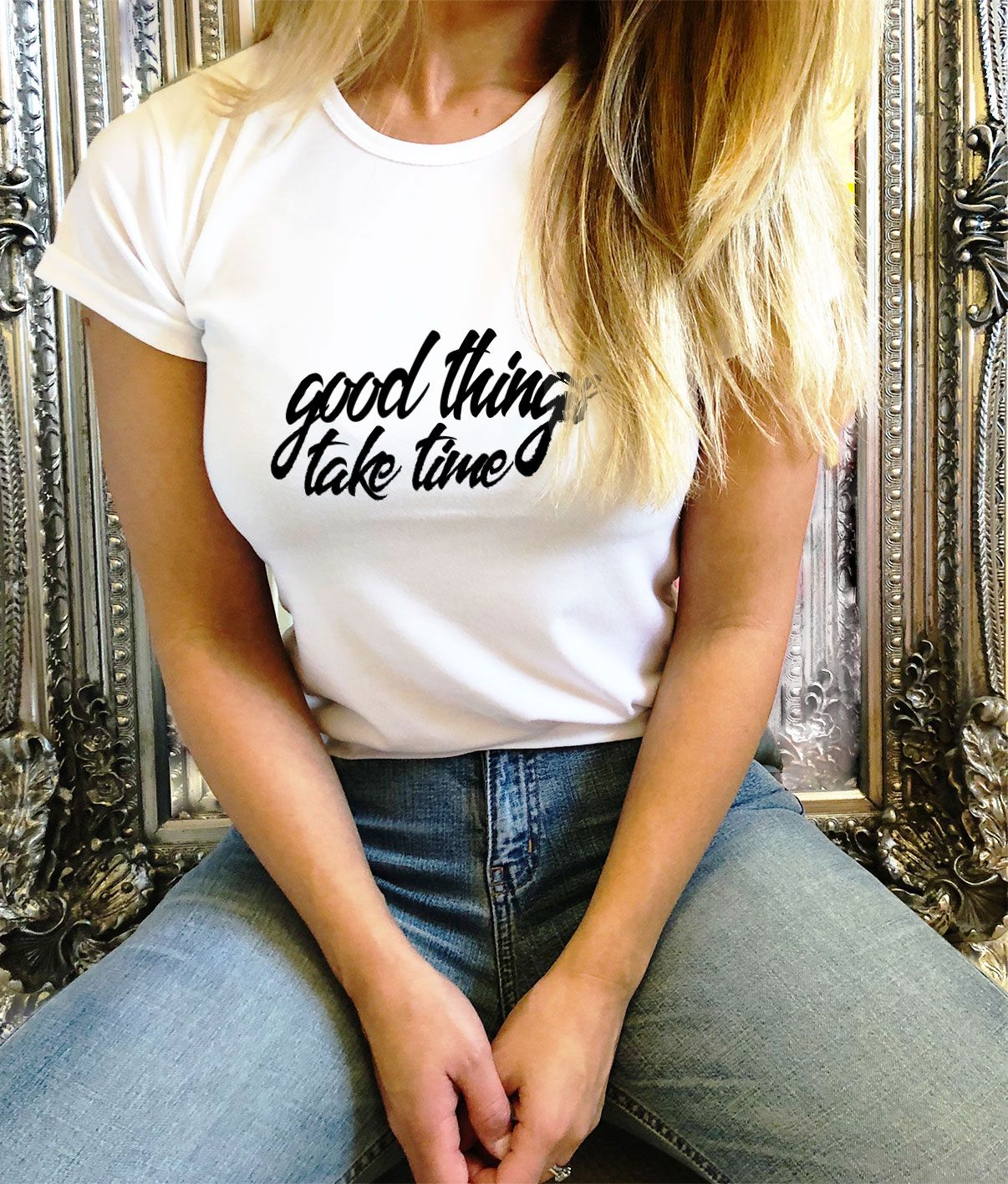 hot-selling official special for shoe dirt cheap Good Things Take Time - Women's T-Shirt | T shirt in 2019 ...