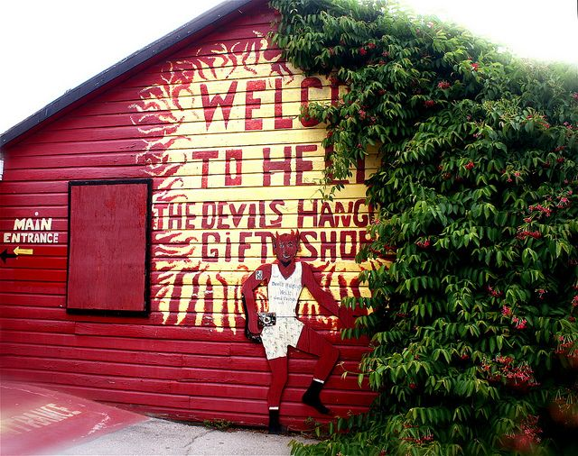 Cayman Islands Hell | cayman islands welcome to hell sign red | Flickr - Photo Sharing!