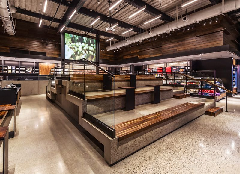 Starbucks Has Opened A New Location With Stadium Style