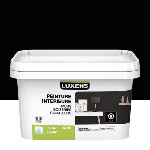 Peinture Noir Satin Luxens 2 5 L Peinture Peinture Mur