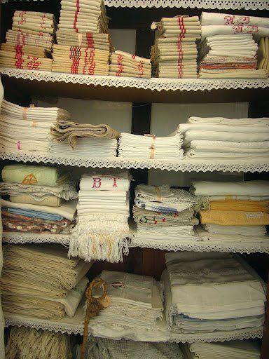 French Country Kitchen Textiles organized vintage kitchen textiles | vintage kitchens | pinterest