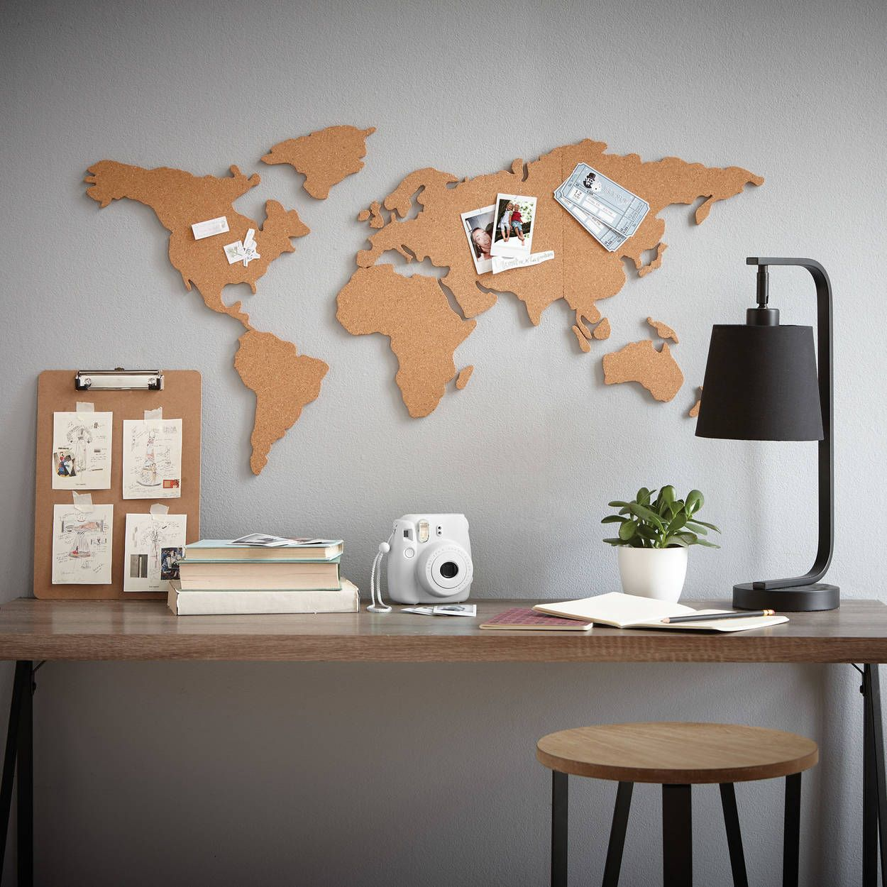 Liège Décoration Murale Cork World Map Wall Sticker En 2019 Idées Déco World Map Wall