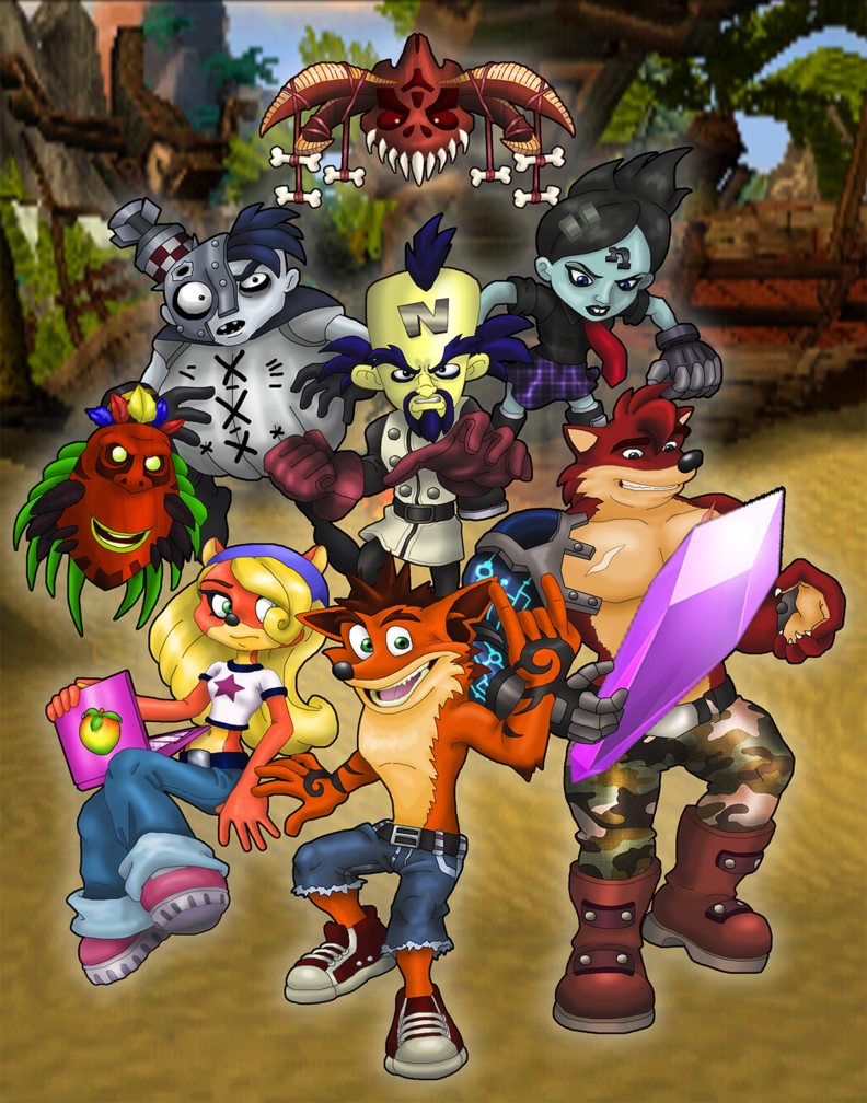 My husband was talking the other day about how much he for Crash bandicoot tattoo