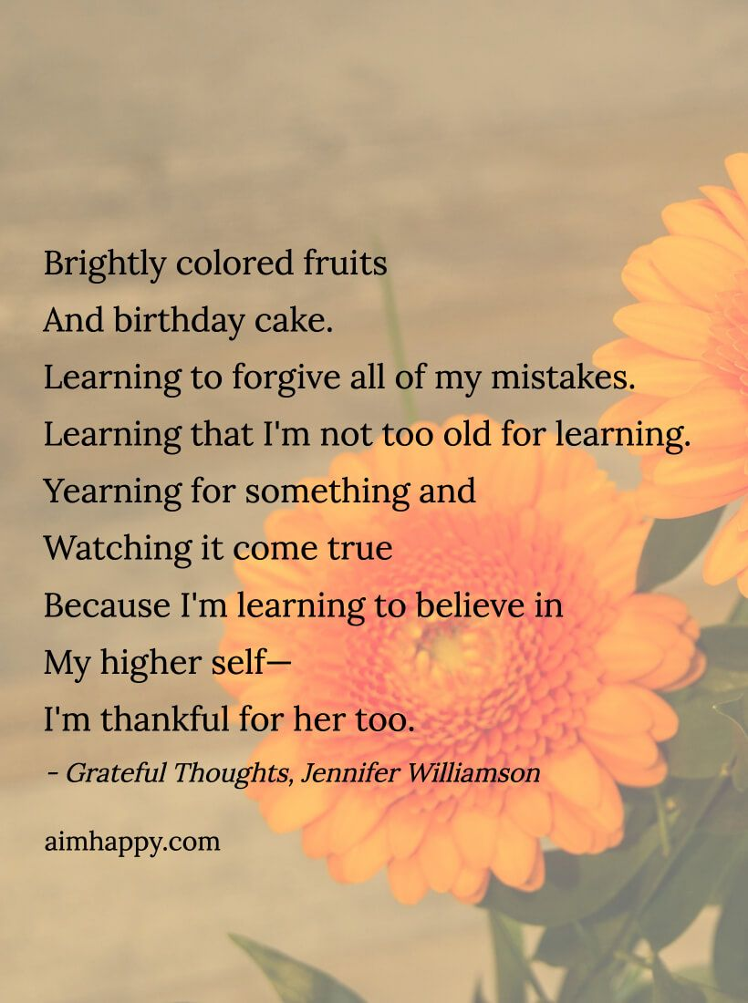 30 Grateful Thoughts In A Poem For My 30th Birthday Gratitude