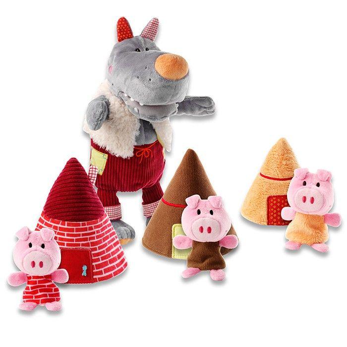 Marioneta El lobo y los tres cerditos Lilliputiens | Lilliputiens ...