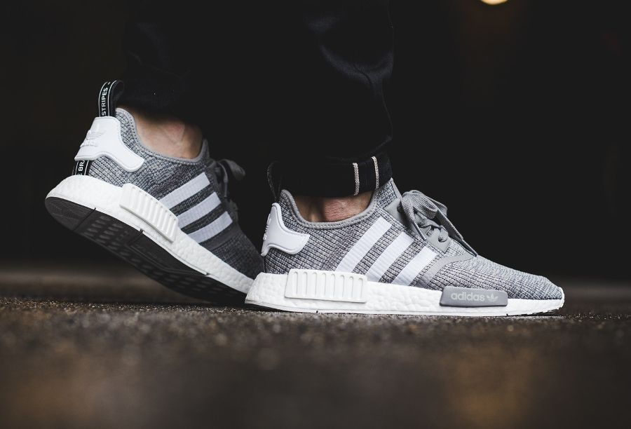 Adidas NMD R1 Grise 'Heather Solid Grey' (homme) | Adidas ...