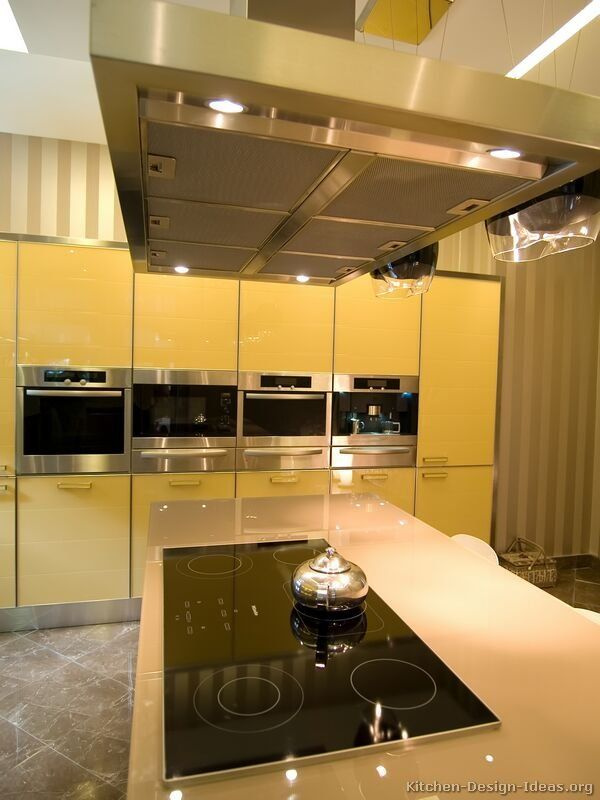 Kitchen of the Day Modern yellow kitchens LUXU KITCHEN VIP