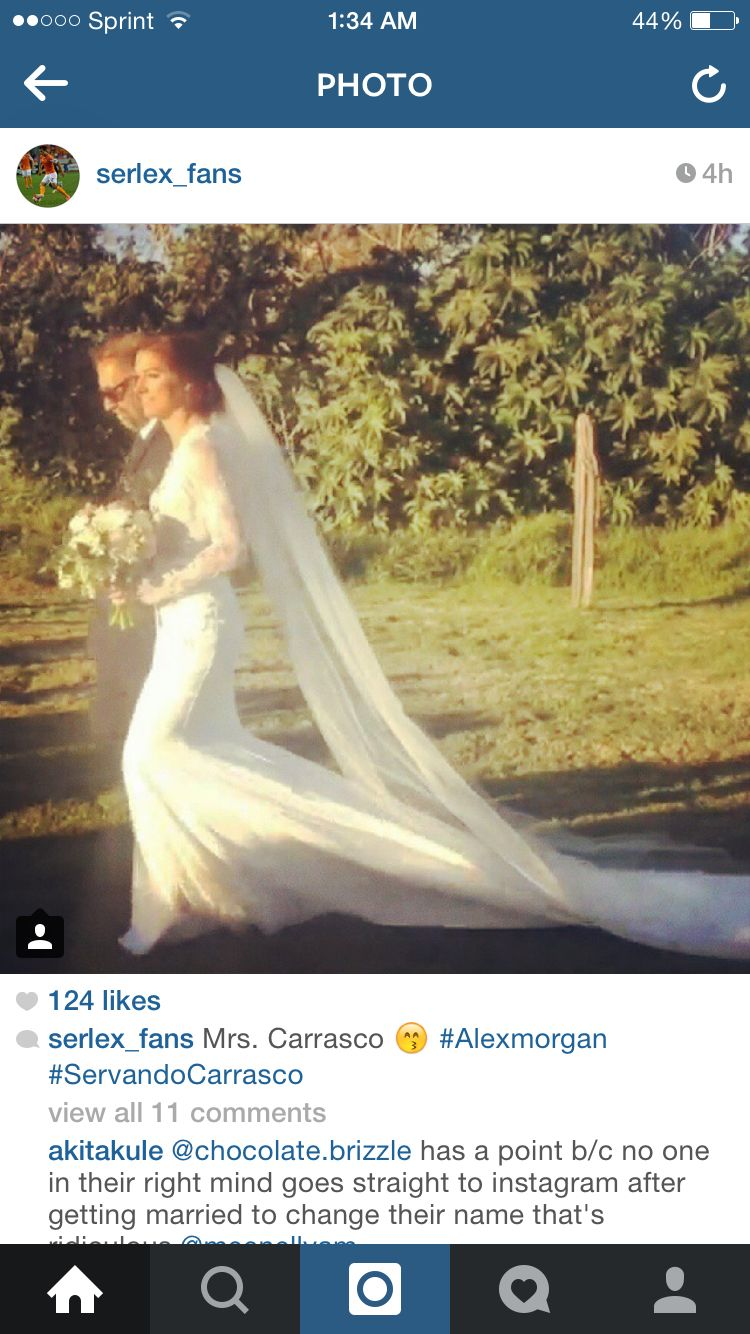 Servando carrasco and alex morgan wedding dress