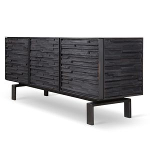 charred wood cabinet meubles d co bois br l pinterest mobilier de salon mobilier et. Black Bedroom Furniture Sets. Home Design Ideas