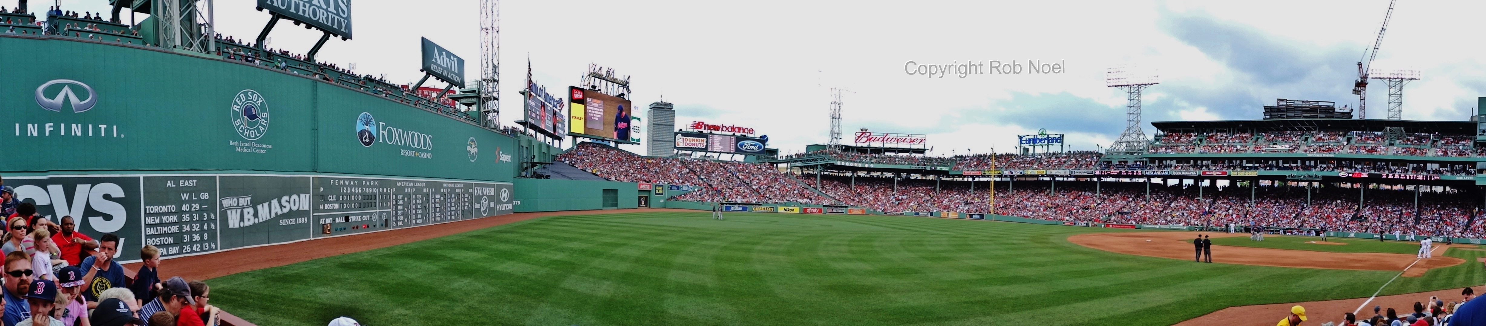 Left Field Green Monster in Fenway Park Panoramic photo