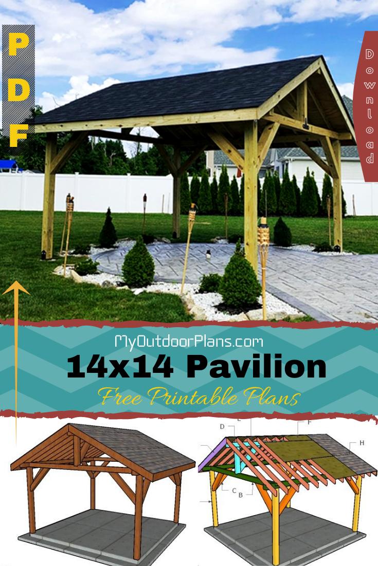 How To Build A 14x14 Pavilion Outdoor Pavilion Pavilion Plans Woodworking Plans Diy