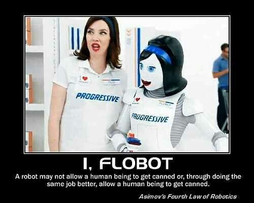 Oh No Flobots Broken Ha I Love Flo Insurance Benefits