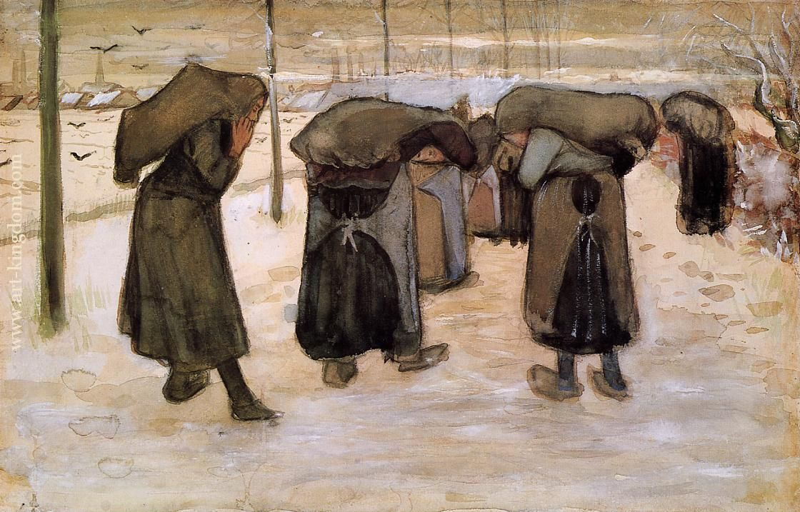 Vincent van Gogh - Women Miners Carrying Coal, 1882