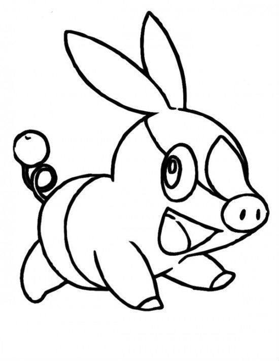 Pokemon Tepig Coloring Pages For Kids Go4 Printable Pokemon Coloring Pages For Kids Colorear Pokemon Pokemon Colores