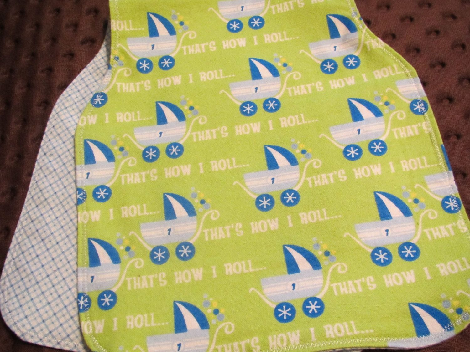 Cutest burp rags ever...made by an awesome woman and super cheap.  They work so well :) Easier than making my own!
