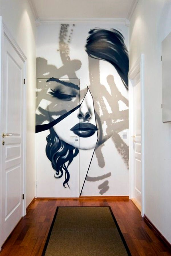 40 Abstract Wall Painting Ideas For A More Artistically Rich Look Abstract Wall Painting Creative Wall Painting Wall Painting