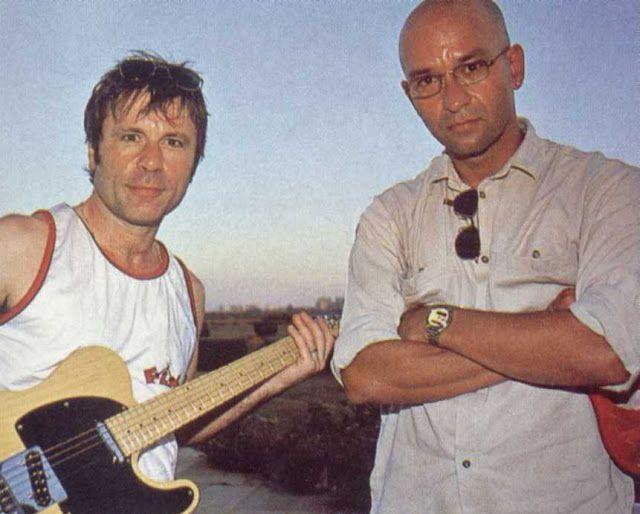 Bruce Dickinson e Herbert Vianna