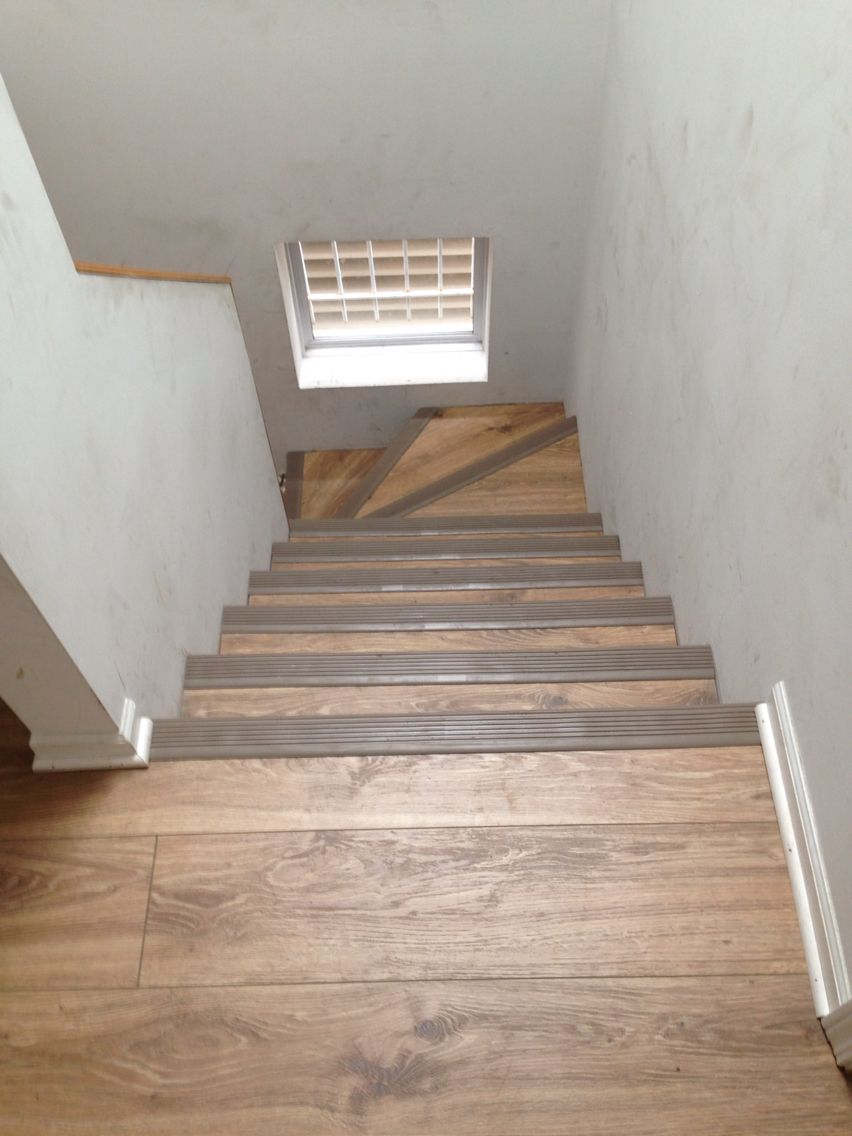 Laminate We Installed On The Stairs With Rubber Stair Nosing 773