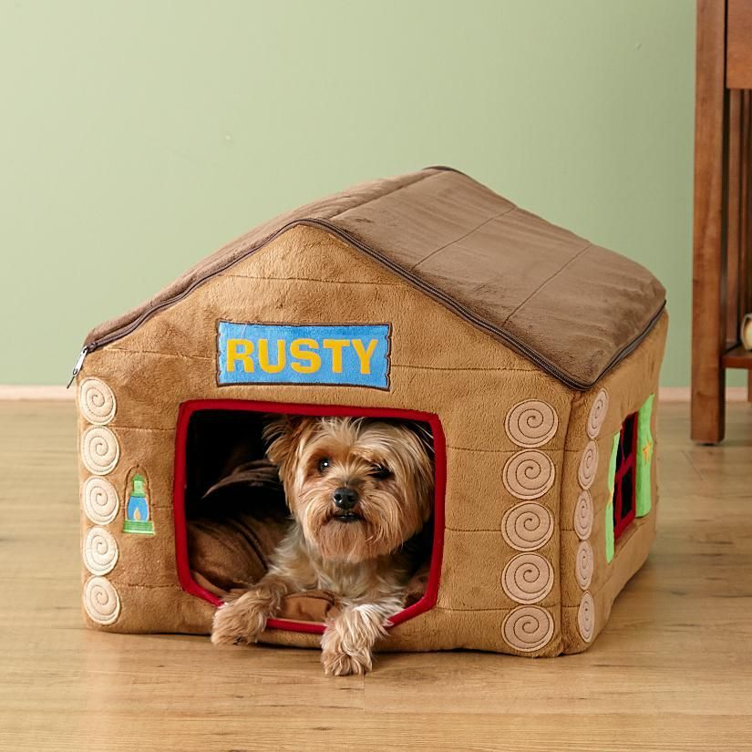 Plush Cabin Pet House Personalized Pet Gifts Pet Gifts Personalized Pet