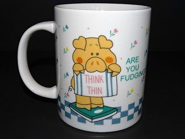Novelty T Mug Weight Loss Hot Chocolate Tea Pig