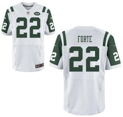 on sale 142f5 054f0 New York Jets #22 Matt Forte Williams White Road NFL Elite ...