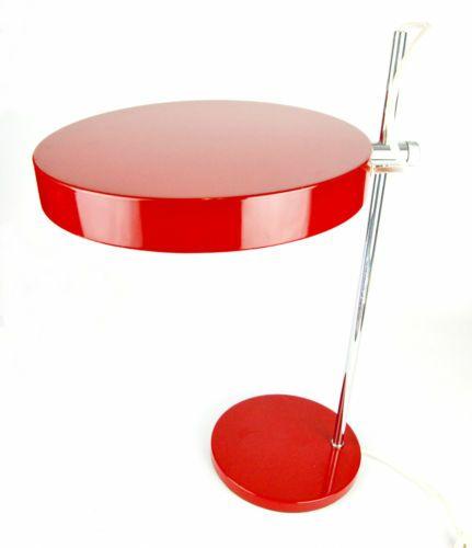 Kaiser Desk Table Lamp Mid Century Danish Modern Bauhaus Panton 70s 80s Era Ebay With Images