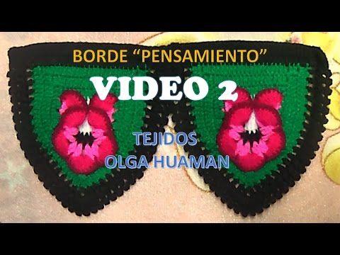 BORDE A CROCHET PARA COLCHA PENSAMIENTO VIDEO 1 - YouTube