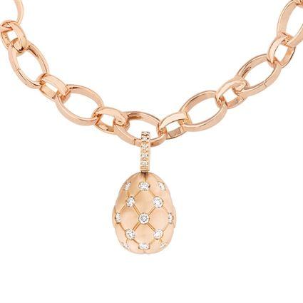 dc319902cbaa3e Faberge Egg Charm – Treillage Diamond Rose Gold Matt Charm Boite A Bijoux,  Œufs De