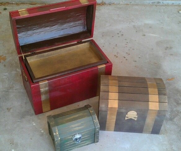 Wooden Spray Painted Treasure Chests Aaargh Matey Spray Paint Silent Auction Crafts