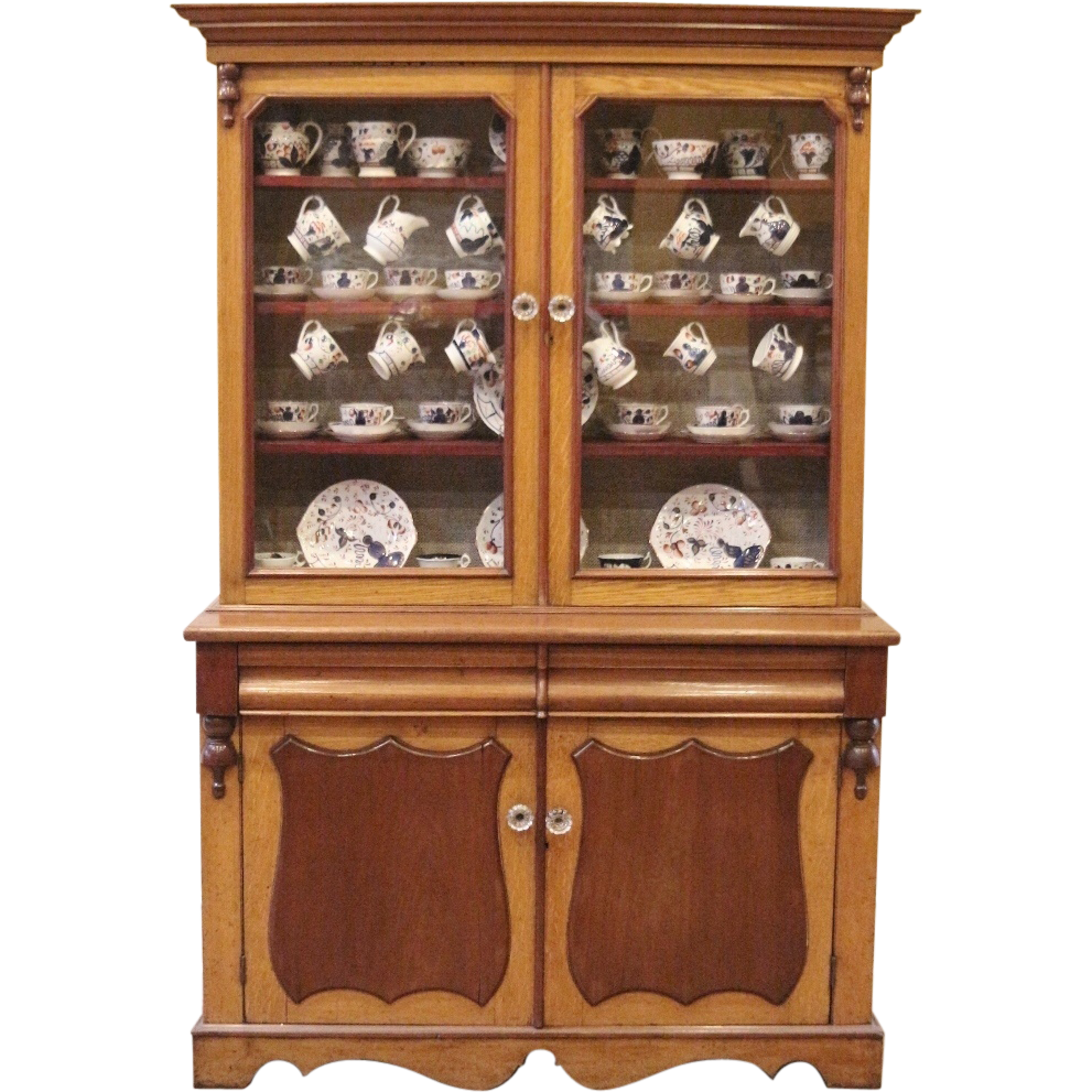Antique China Cabinet Mahogany Oak Welsh Dresser Kitchen Hutch English Dining RoomsAntique