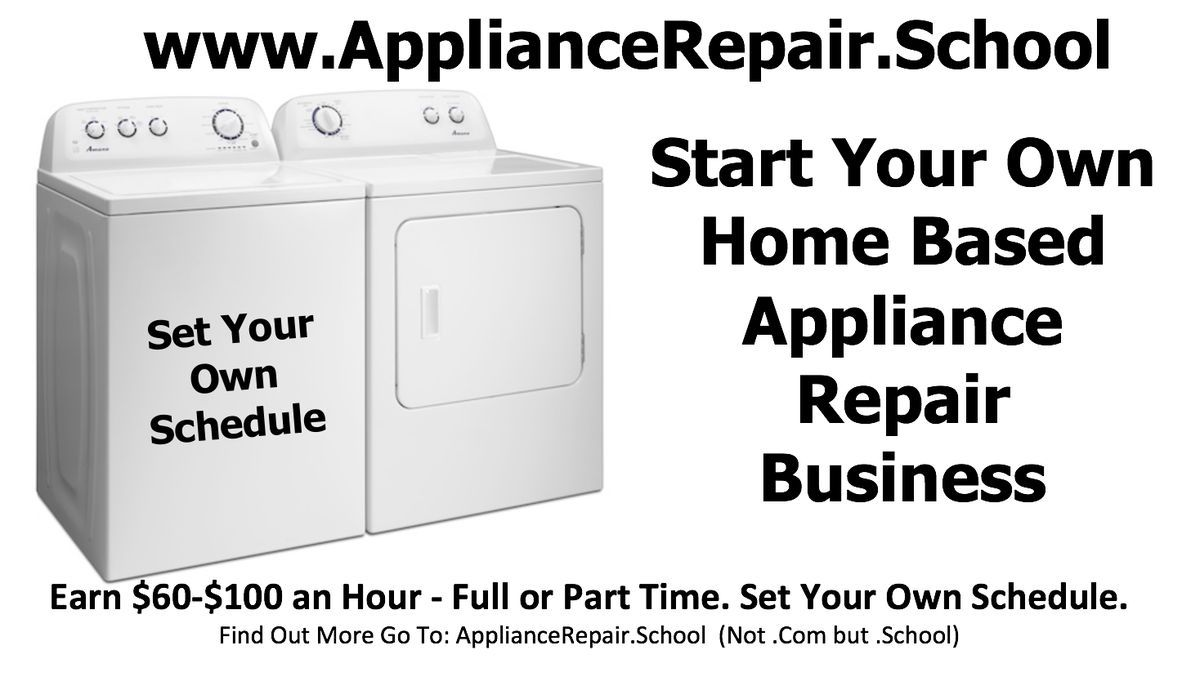 Start your own appliance repair home based business. www ...