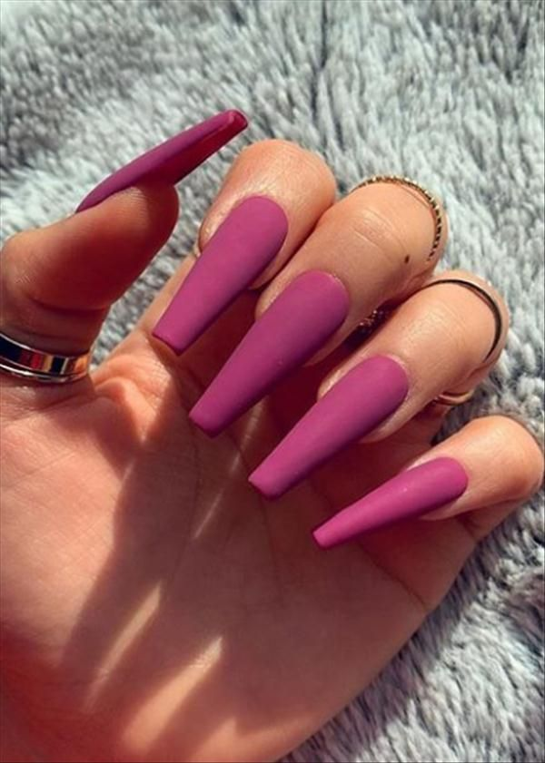 Manicure At Home- 50 Matte Coffin Nails Style Recommend - Latest Fashion Trends for Girls