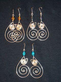 Gear Wire: Earrings --Kitty kat earrings, cute!   Jewelry making ...