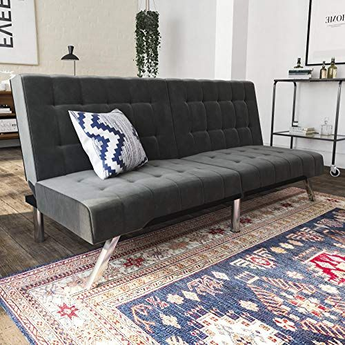 Groovy Dhp Emily Futon Couch Bed Modern Sofa Design Includes Bralicious Painted Fabric Chair Ideas Braliciousco