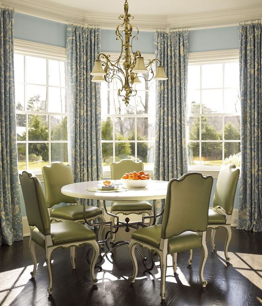 50 Cool Bay Window Decorating Ideas: Dining Room Windows, French