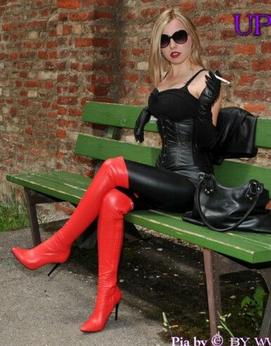 Elbow Fetish Gloves Leather Length Smoking