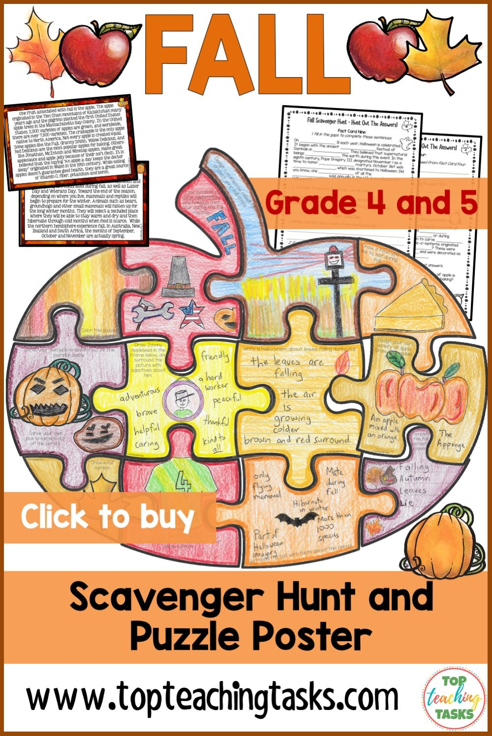 Fall Reading Comprehension Activities Thanksgiving