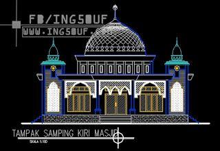 خربشات مهندس مخططات معمارية مسجد صغير 18x18 اوتوكاد Dwg