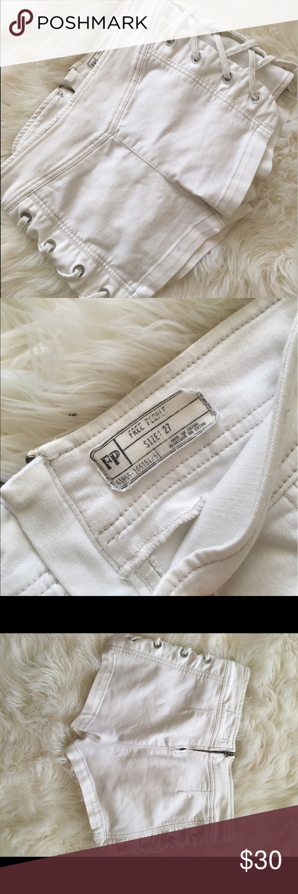 Free people shorts Perfect condition. Fits 27/small Free People Shorts