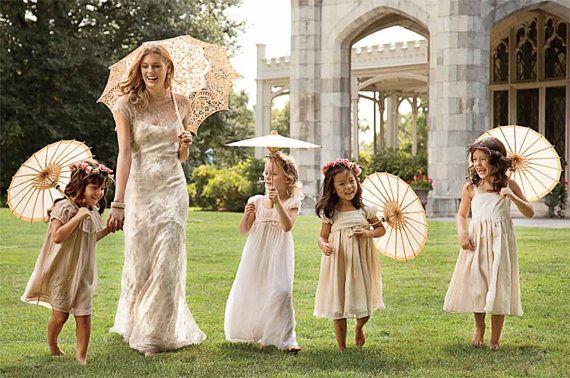 Childs umbrella,Lace umbrella,Bridesmaids Parasol,Sun parasol 10 colours Small Lace Bridal Parasol,Wedding Parasol,Flowergirl lace Umbrella