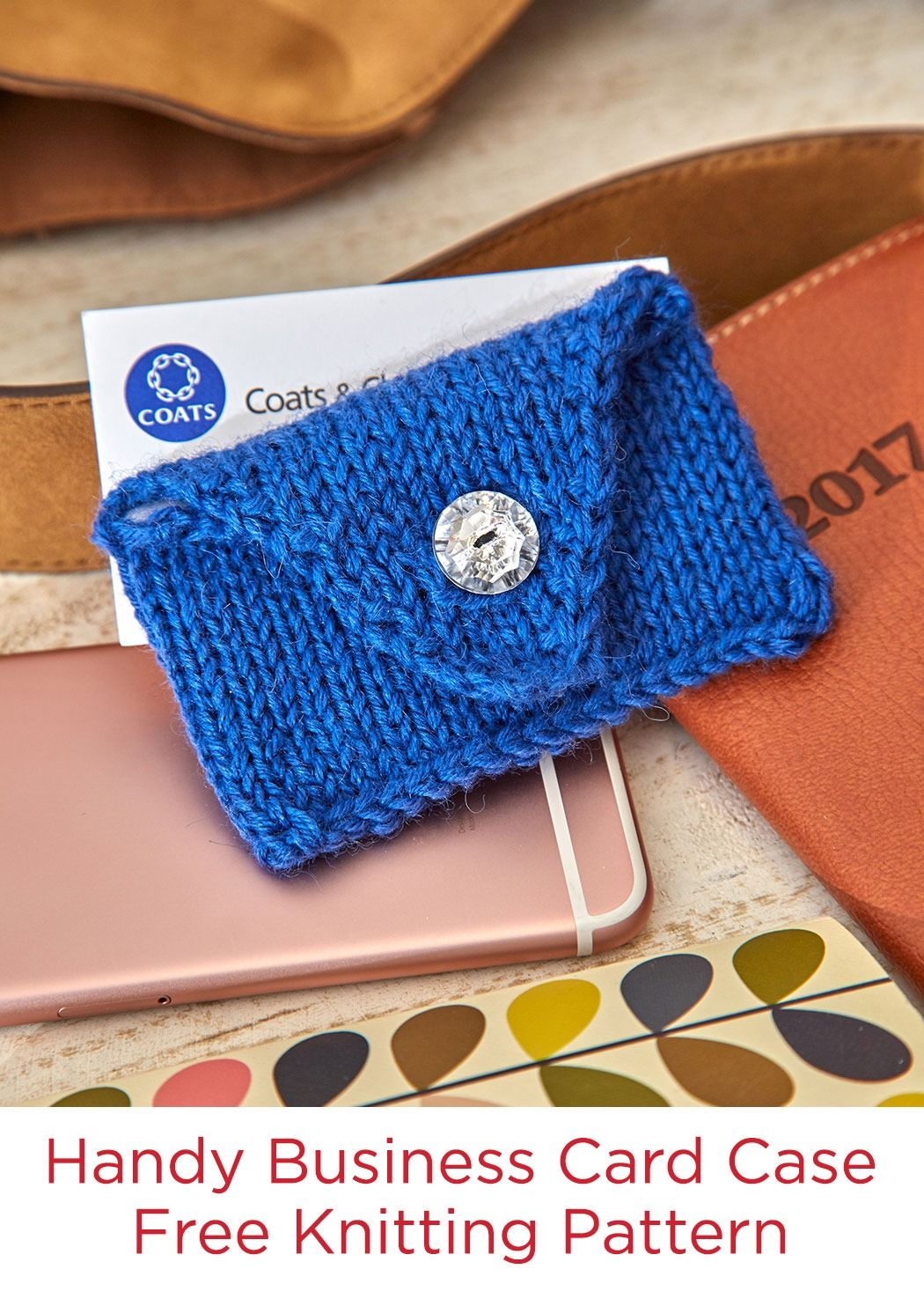 Handy business card case free knitting pattern in red heart heart pull out your knitted business card case and youll quickly find out if your new acquaintance is also a knitter its perfect for giving to congratulate magicingreecefo Image collections