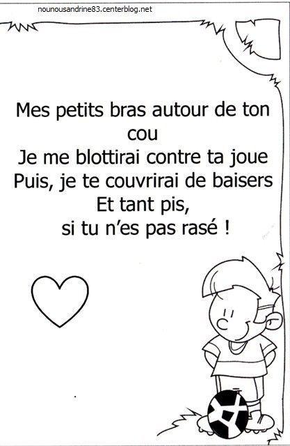 Activite Manuelle Poeme La Fete Des Peres Fete Des Peres