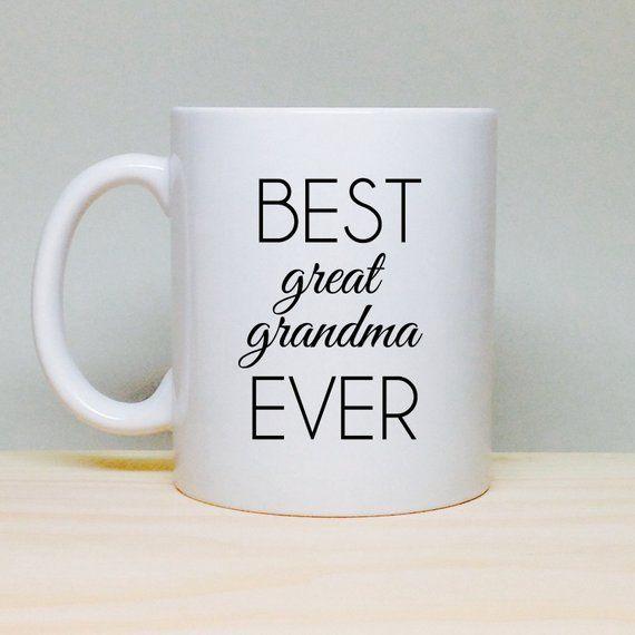 b76cfe69b8d Gift For Great Grandma, Great Grandma Mug, Best Great Grandmother ...