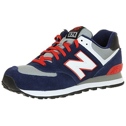 navy and red new balance 574