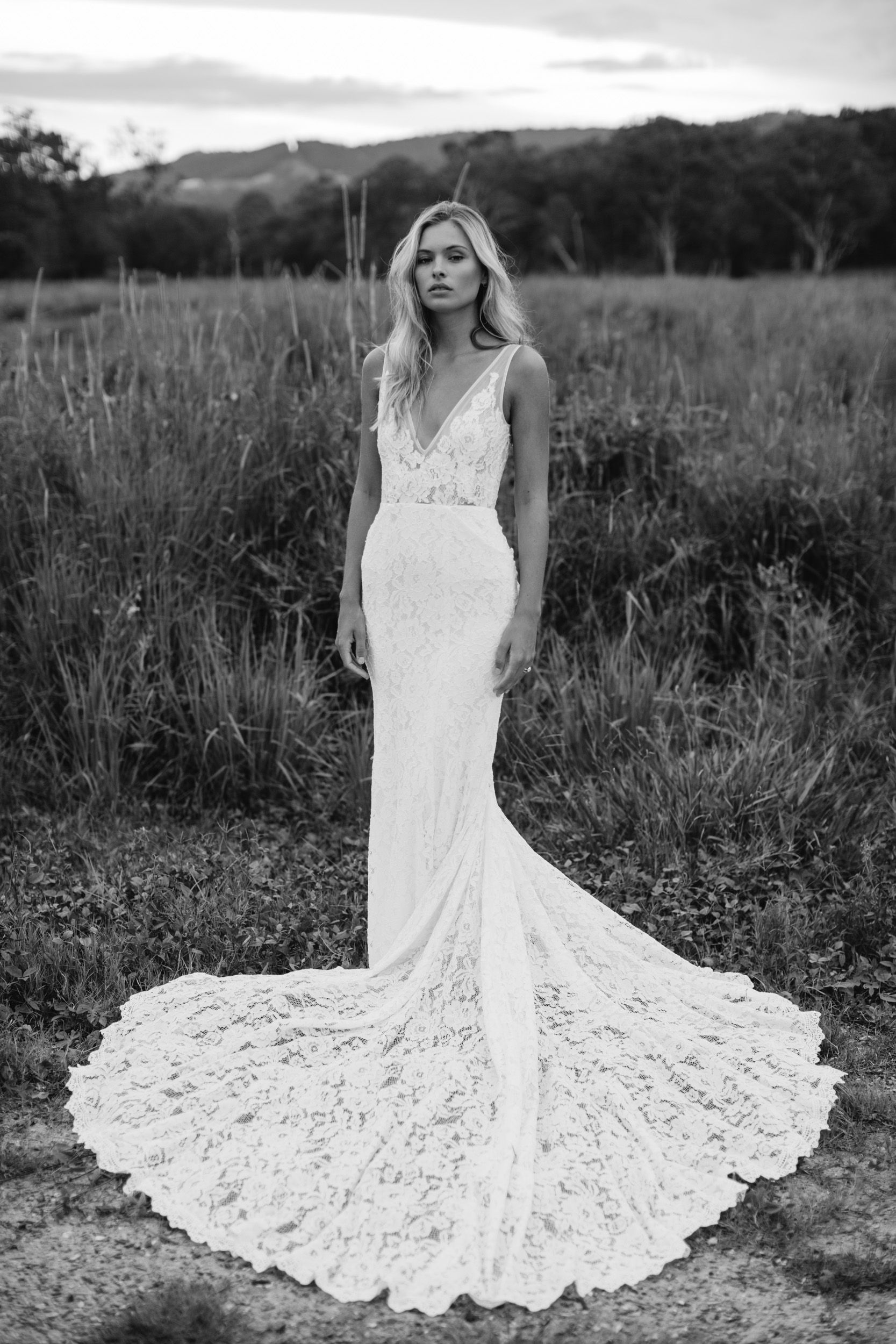 Low back lace wedding dress #Frankie http://www.madewithlovebridal ...