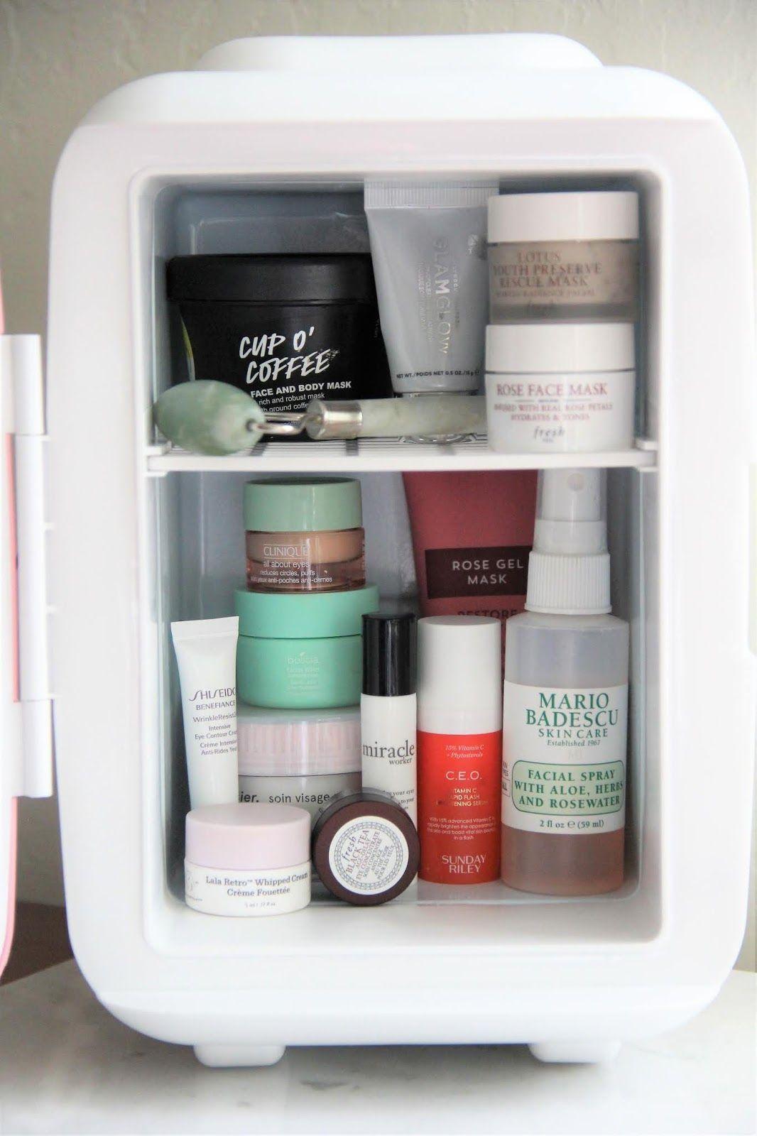 Cooluli mini skincare fridge is perfect to keep skincare