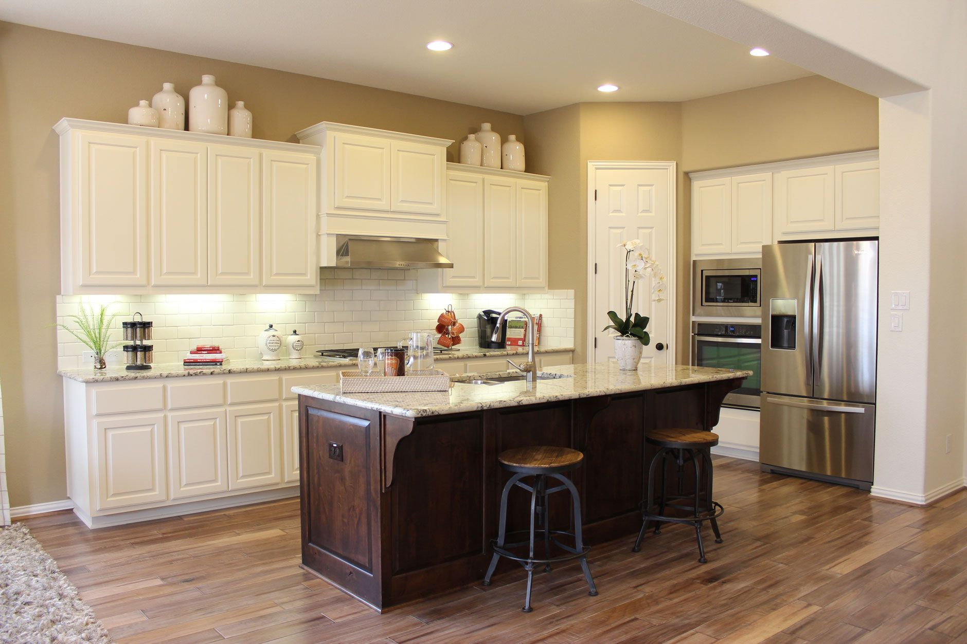 Kitchen With Painted White Cabinets And Cabinet Doors Modern Grey Kitchen Contemporary Kitchen Tiles Grey Kitchen Floor