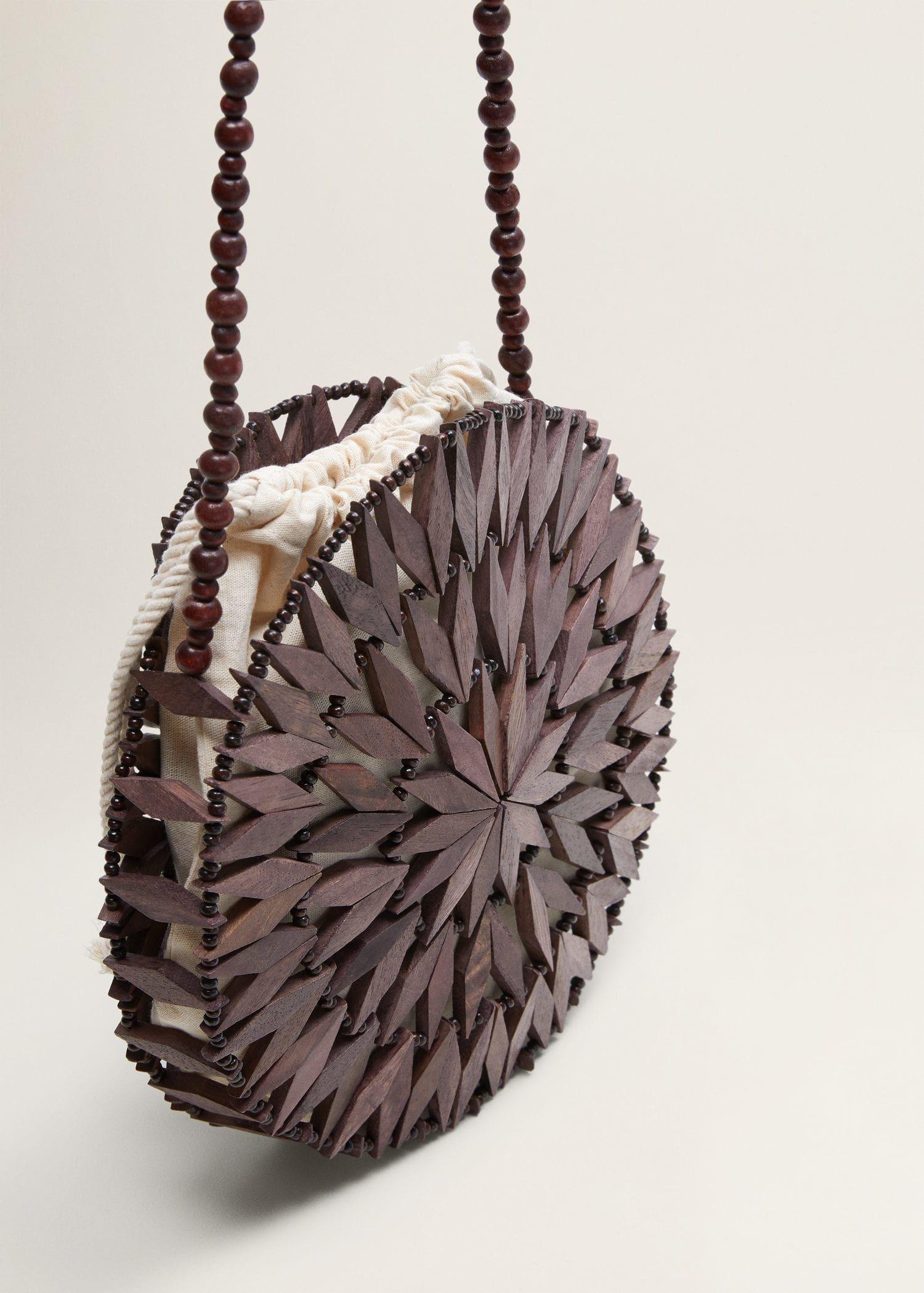 Beaded Wood Bag Women Bags Bags Bags Bags Fashion